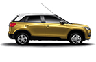 Maruti Vitara Brezza Fiery Yellow with Peral Arctic White
