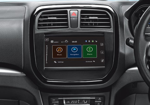 maruti vitara brezza stereo interior picture. Black Bedroom Furniture Sets. Home Design Ideas
