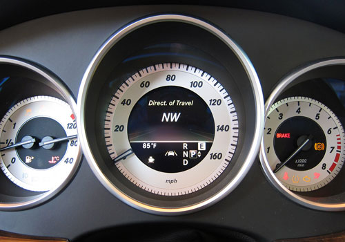 Mercedes Benz CLS Class Tachometer Interior Picture