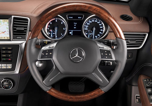 Mercedes Benz M Class Steering Wheel Interior Picture