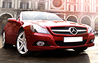 Mercedes Benz SL Class Front Low Angle View Picture