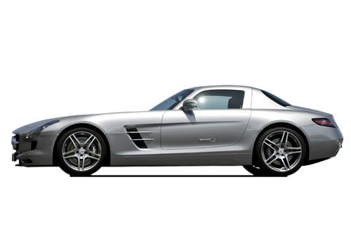 Mercedes Benz SLS Class Front Angle Side View Exterior Picture