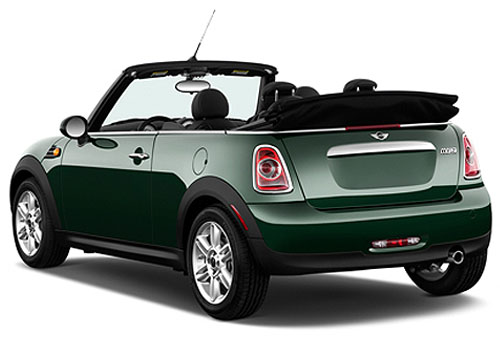 Mini Cooper Convertible Rear Angle View Exterior Picture