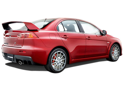 Mitsubishi Lancer Evolution Rear Angle View Exterior Picture