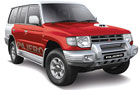 Mitsubishi Pajero in Red Color