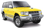Mitsubishi Pajero in Yellow Color