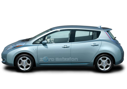 Nissan Leaf Front Angle Side View Exterior Picture