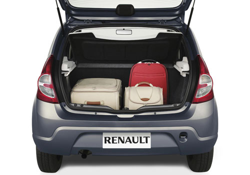 Renault Sandero Boot Open Interior Picture