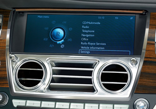 Rolls-Royce Ghost Front AC Controls Interior Picture