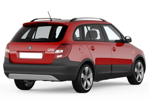 Skoda Fabia Scout Rear Angle View Exterior Picture