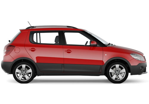 Skoda Fabia Scout Side Medium View Exterior Picture
