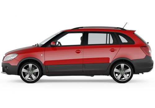 Skoda Fabia Scout Front Angle Side View Exterior Picture