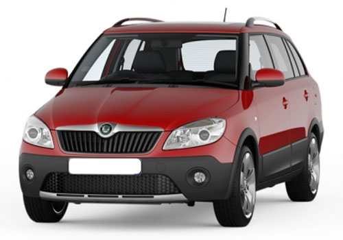 Skoda Fabia Scout Front High Angle View Exterior Picture