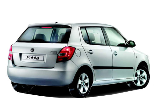 Skoda Fabia Rear Angle View Picture