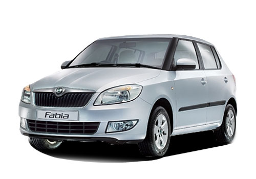 Skoda Fabia Front High Angle View Exterior Picture
