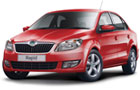Skoda Rapid in Red Color