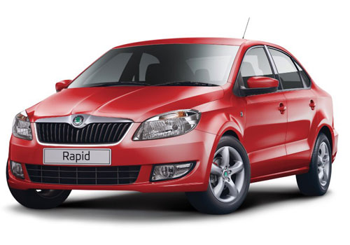 Skoda Rapid Front Low View Picture