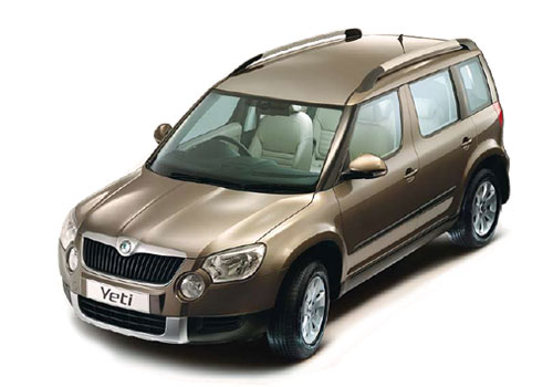 Skoda Yeti Top View Exterior Picture