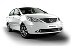 Tata Manza in White Color