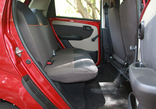 Tata Nano Rear Seats Interior Picture