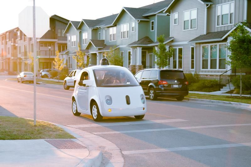 Google's Self Driven Car Picture
