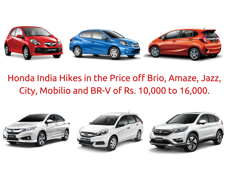 Honda  Hike Car Prices