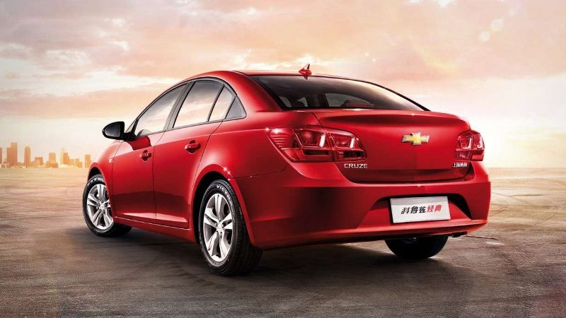 Rear View Picture of Facelift Chevrolet Cruze