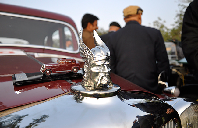 Bonnet of Vintage Car
