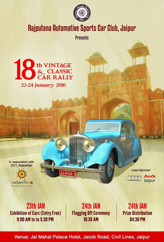 Vintage and Classic Car Rally Poster