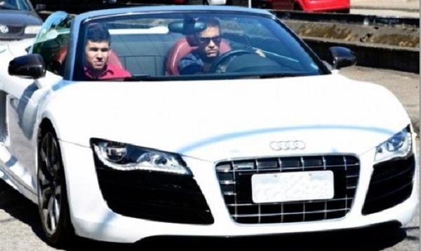 Neymar Audi R8 GT