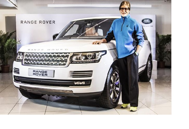 Amitabh Bachchan with his Land Rover Range Rover