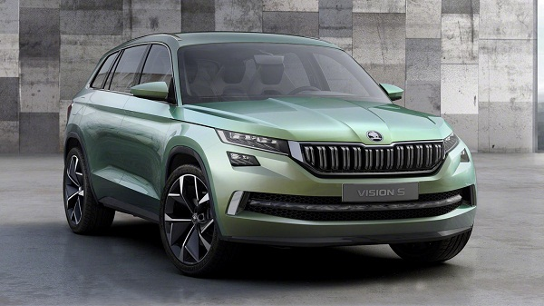 Skoda Vision S Concept SUV Front View