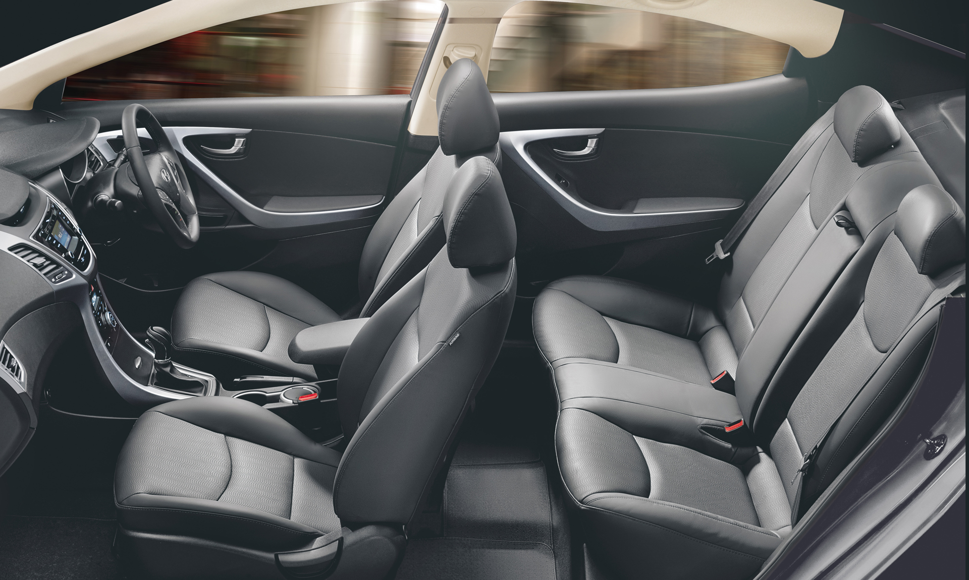 Interiors of Existing Hyundai Elantra