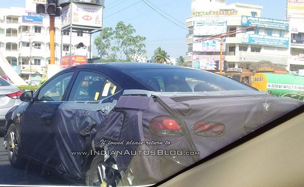 Rear View of Spied Generation Next Hyundai Elantra