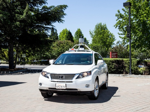 Front View of Google's Self Driven Car