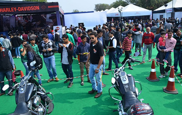 Audiences at Jaipur Auto Expo