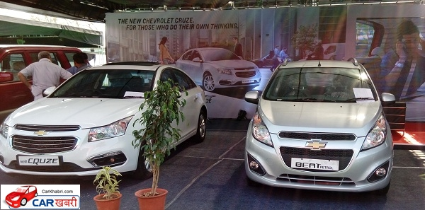 Chevrolet Cruze and Beat Showcased during the Jaipur Auto Expo 2016