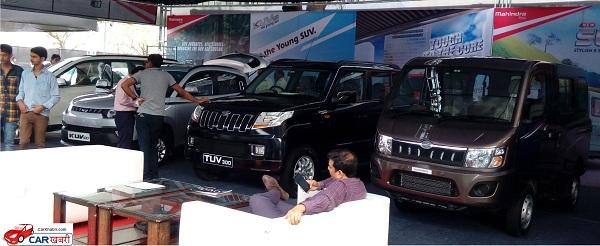 Mahindra & Mahindra's Stand at Jaipur Auto Expo 2016