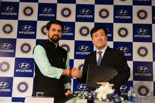 Hyundai India offical partner of BCCI
