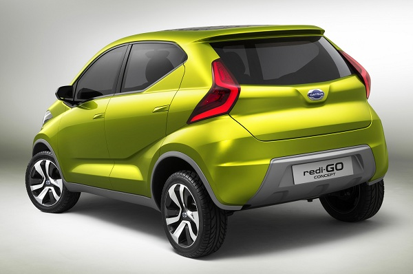 Datsun Redi-Go Crossover Rear Side View