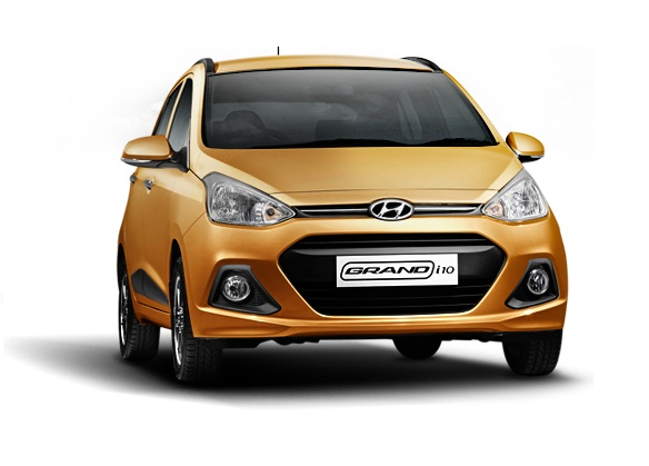 Front View of Hyundai Grand i10
