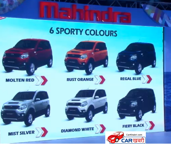 Mahindar NuvoSport Colors