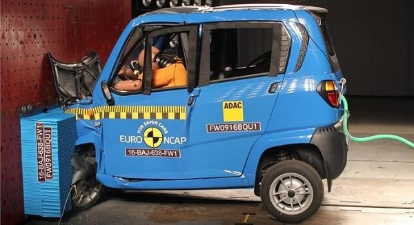 Bajaj Qute NCAP Crash Test