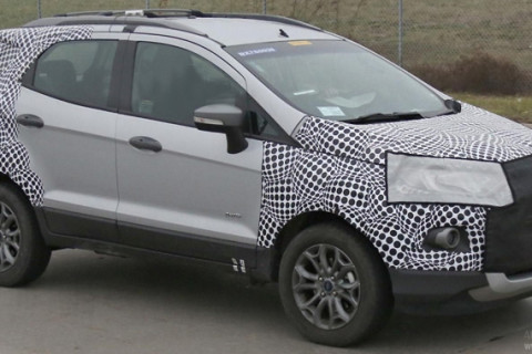 Ford EcoSport Facelift Front Side Low View