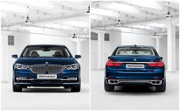 BMW 7 Series 100 Years Edition Front and Rear View