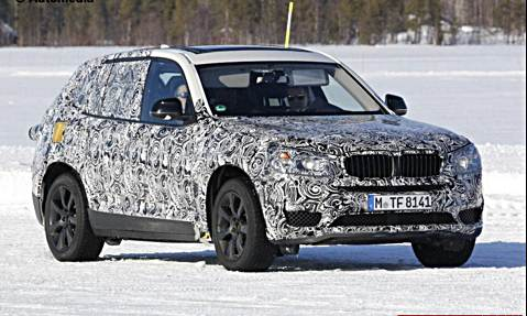 Camouflaged BMW X3 M Side View