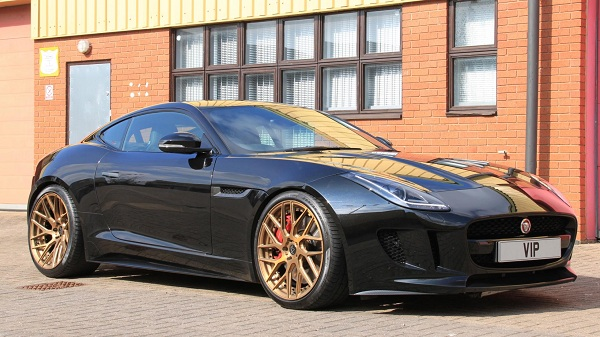 Jaguar F-Type R Coupe Front Side View