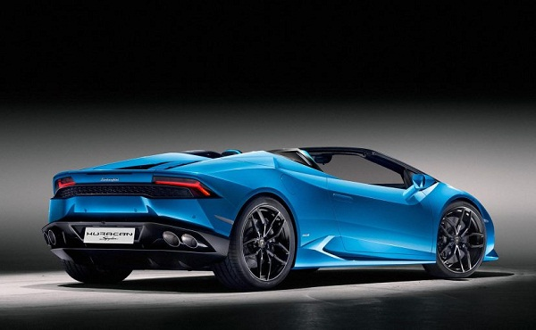 Lamborghini Huracan Spyder Rear Side View