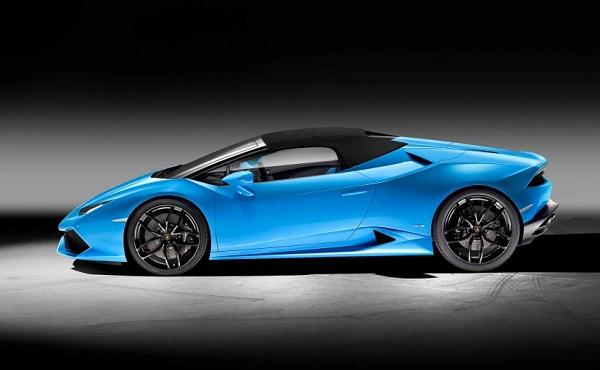 Lamborghini Huracan Spyder Side View