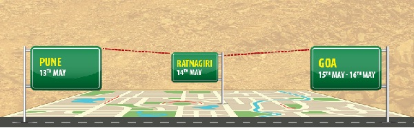 Maruti Suzuki Deccan Rally Route